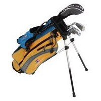 """US Kids UltraLight 42"""" 4-club Carry Bag Set ( Right Hand )イエロー"""