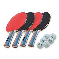 Killerspin JETSET 4 Table Tennis Paddle Set with 6ボール