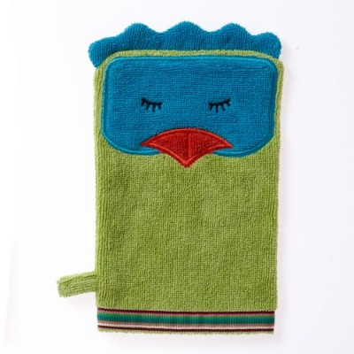 Breganwood Organics Bath Mitt, Funny Bird in Organic Cotton, Rainforest Collection by Breganwood Organics