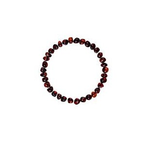 Natural Baltic Amber Adult Stretchable Bracelet/Anklet Cherry Colour Baroque By Amber Corner by...