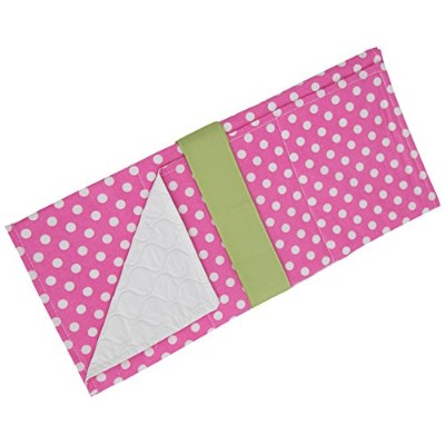 Caught Ya Lookin' Baby Changing Pad, Pink/White/Green by Caught Ya Lookin'