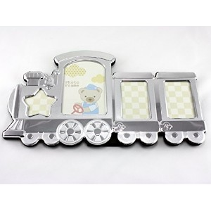 Skyway Train Baby Picture Photo Frame Keepsake Silver - Engravable by Skyway Products