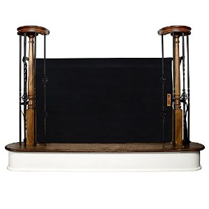 The Stair Barrier - Bannister-to-Bannister Indoor/Outdoor Baby/Pet Gate - Black by The Stair Barrier