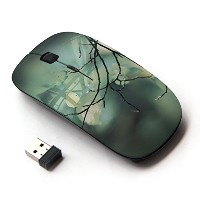KOOLmouse [ ワイヤレスマウス 2.4Ghz 無線光学式マウス ] [ Leaf Green Tree Sleeping Wood Nature ]