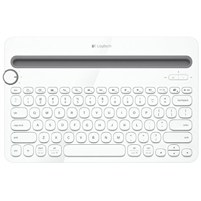 Logitech Bluetooth Multi-Device Keyboard K480 for Computers, Tablets and Smartphones, White (920...