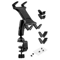 ARKON Heavy Duty C Clamp Tablet Mount for Tripods Carts Tables Desks for iPad Air 2, iPad 4/3/2...