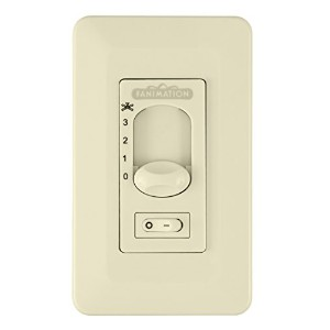 Fanimation CW1SWLA Ceiling Fan and Light Wall Control On/Off Toggle for Light, Light Almond by...
