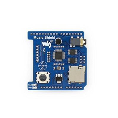 Waveshare Music Shield Arduino Expansion Board for Audio Play/Record VS1053B Onboard Music Moduel Compatible Arduino UNO, Leonardo, NUCLEO, XNUCLEO