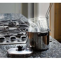 High Quality Stainless Steel Deep Fryer Set - 6 Qt Stove Top Home Deep Fryer With Basket and Lid by...