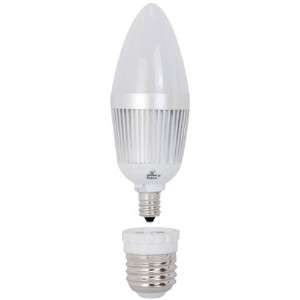 Globe Electric 8460501 3000K 4W 25W Equivalent LED Max Chandelier Light Bulb with Candelabra and...