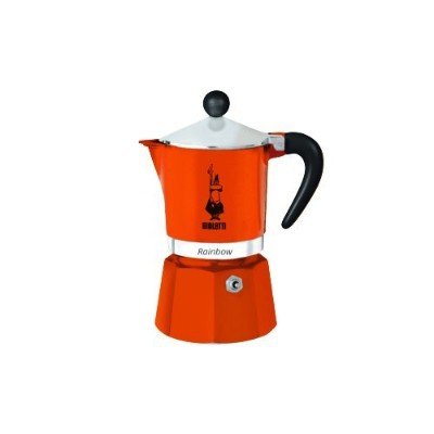 (Orange) - Bialetti Rainbow Espresso Maker for 3 Cups, Orange