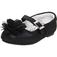 Pediped Flex Stella Sparkle Ballet Flat ( Toddler / Little Kid ) カラー: ブラック