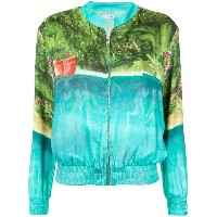 Isolda - printed bomber jacket - women - ビスコース - 40