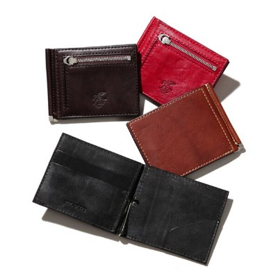 【予約販売11月上旬~中旬入荷】【MR.OLIVE E.O.I】ME113-POLISHED STEER LEATHER / MONEY CLIP WALLET 財布