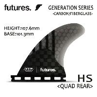 Future Fin,フューチャーフィン/4FIN・QUAD用リアフィン/GENERATION SERIES/RTM HEX V2 HS 4.20/Hayden Shapes/SMOKE/Lサイズ ...