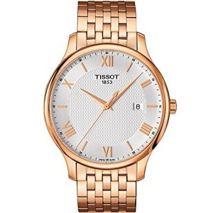 ティソ Tissot 腕時計 メンズ 時計 Tissot T063.610.33.038.00 Men's Watch Tradition Rose Gold 42mm Stainless Steel
