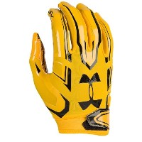 アンダーアーマー メンズ アメフト グローブ【Under Armour F5 Football Gloves】Steeltown Gold/Black