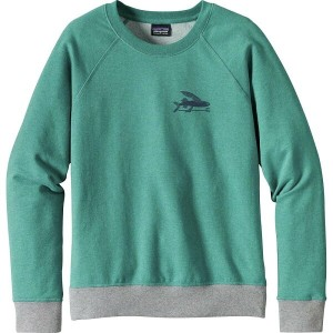 パタゴニア レディース トップス パーカー【Small Flying Fish Midweight Crew Sweatshirt】Elwha Blue