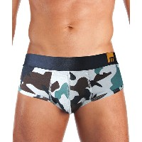 MOSMANN M-series GREEN CAMOUFLAGE PRINT Brief S/XL (あす楽対応 土日祝日を除く) /正午まで当日発送(土日祝日を除く)