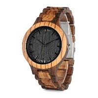 bobo鳥d30メンズ竹Wooden Watch withフル木製リンクで竹ボックス
