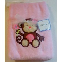 Cutie Pie Monkey Pink Baby Blanket by Cutie Pie Baby