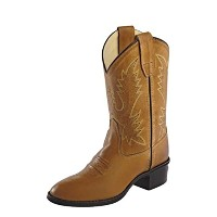 Old West Girls 'コロナカーフスキンCowboy Boot Round Toe – ccy1129g US サイズ: 3.5 Child カラー: ブラウン