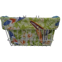 Bike Basket Liner -Mavericks Lime Green Rectangular by Polynesian Designs