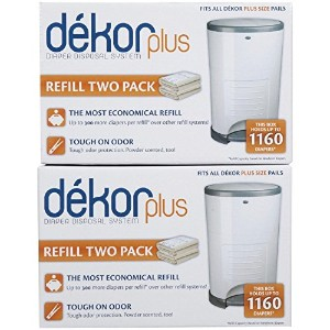 Diaper Dekor Plus Refill - 4 Pk by Diaper Dekor