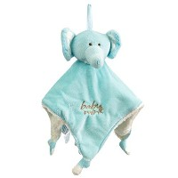 Baby Mink Elephant Lovey/Security Blanket - Blue by Baby Mink