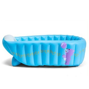 Ecity Portable Tubs Infant-to-Toddler Inflatable Bath Tub Baby Swimming Pool Bathtub (Blue) by Ecity