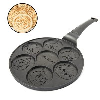 Angry Birds Pancake Pan–朝食ケーキGriddle with 7Unique Flapjack文字–Non Stick