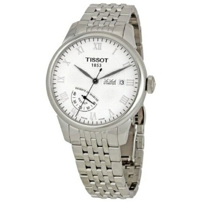 ティソ Tissot 腕時計 メンズ 時計 Tissot Men's T0064241126300 Le Locle White Dial Watch
