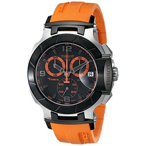ティソ Tissot 腕時計 メンズ 時計 Tissot Men's T0484172705704 T-Race Two-Tone Stainless Steel Watch with Orange...