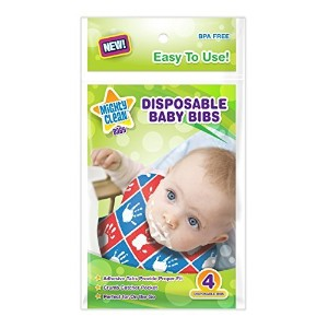 Disposable Baby Bibs 24 Count (4 bibs per package) - by Mighty Clean Baby by Mighty Clean Baby