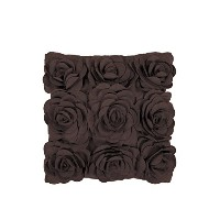 Surya Rug FA083-2222P Square Chocolate Poly Fiber Pillow 22 x 22 in.