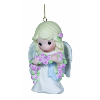 Precious Moments、クリスマスギフト、Forever In My Heart , Bisque Porcelain Ornament , # 131058 by Precious...
