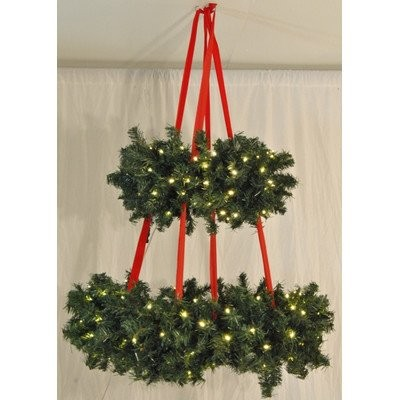 """Queens ofクリスマスwl-bswr-52Hanging Basketクリスマスリースwith 684ヒント、52"""""""