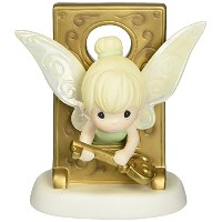 Precious Moments、誕生日ギフト、Disney Tinker Bellでキー穴Figurine、磁器Bisqueフィギュア、153013 by Precious Moments