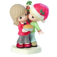 Precious Moments、クリスマスギフト、Merry Kissmas、Sweetie Pie、Bisque Porcelain Figurine , # 161026by...