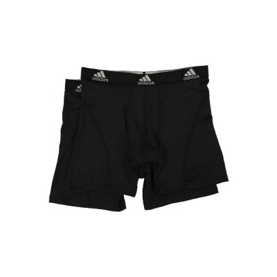 アディダス メンズ インナー・下着 ボクサーパンツ【Sport Performance ClimaLite 2-Pack Boxer Brief】Black/Black/Black/Black