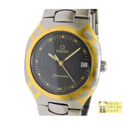 OMEGA ボーイズ腕時計 ポラリス SS×GP クオーツ グレー文字盤【コンビニ受取対象】【中古】