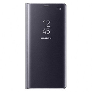Galaxy Note8用 Clear View Standing Cover【Galaxy純正 国内正規品】グレー EF-ZN950CVEGJP