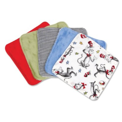Trend Lab Dr。Seuss 5 Piece Wash Cloth Set 30052