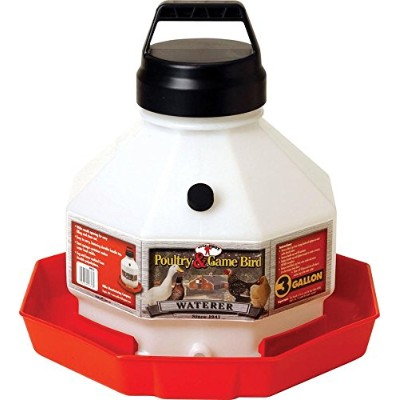 Miller Poultry Fountain Waterer White Red 3 Gallon - PPF-3