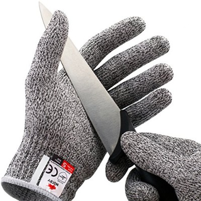 (X-Large) - NoCry Cut Resistant Gloves - High Performance Level 5 Protection, Food Grade. Size...