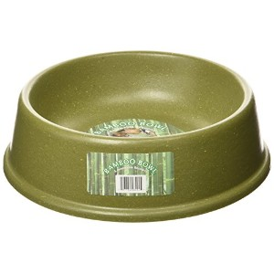 The Green Pet Shop Bamboo Dog Bowl, Large, Green by The Green Pet Shop