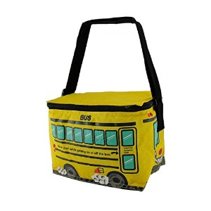 Bright Yellow School Bus Insulated Vinyl Lunch Bag by Zeckos