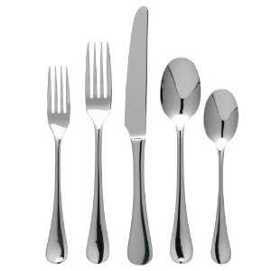 Ginkgo International Varberg 20-pieceステンレススチールFlatware Set 42 Piece シルバー 3936401