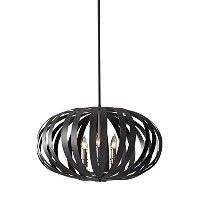 Murray Feiss F2739/6TXB Woodstock 6 Light Chandelier, Textured Black by Feiss