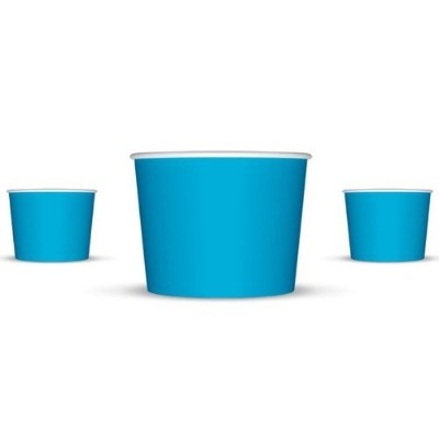 4 oz Paper Hot/Cold Ice Cream Cups - 100ct (Blue) by Arctic Supplies